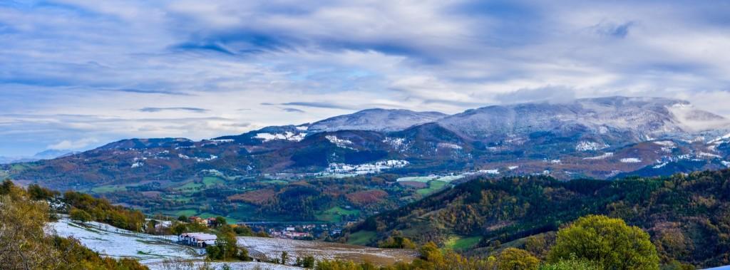 Vista spettacolare sul Monte Comero